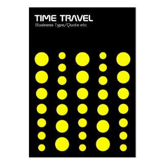 Time Travel v1.2 - Yellow on Black Large Business Cards (Pack Of 100)