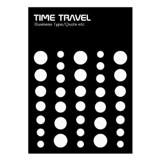 Time Travel - White on Black Large Business Cards (Pack Of 100)