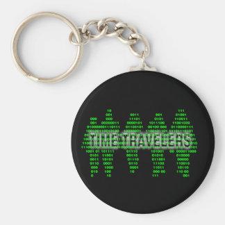 Time travelers - binary code keychain