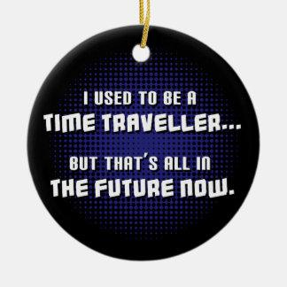 Time Traveller Round Ceramic Decoration