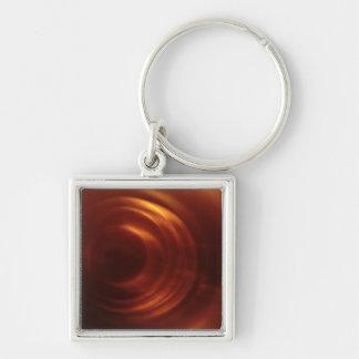 Time Traveller s Orange Vortex Key Chain