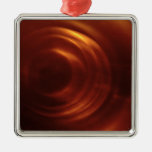 Time Traveller's Orange Vortex Ornaments
