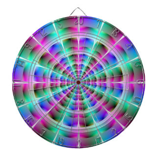 Time Tunnel in Blue and Pink Dartboard