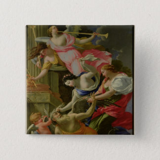 Time Vanquished by Love, Venus and Hope 15 Cm Square Badge