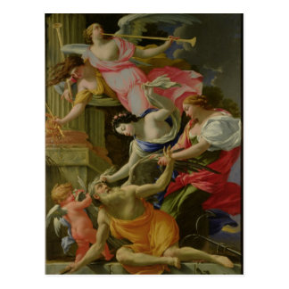 Time Vanquished by Love, Venus and Hope Postcard