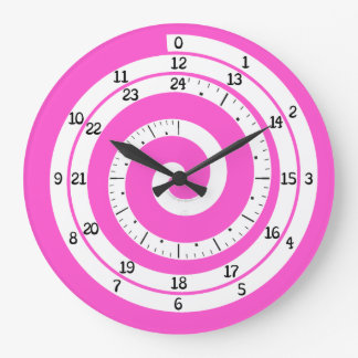 Time Vortex Clock (Pink)