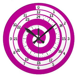 Time Vortex Clock (Purple)