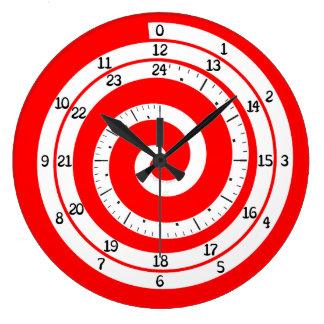 Time Vortex Clock (Vivid Red)