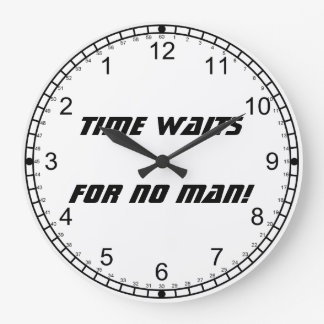 Time waits for no man!-Backward Numerals Large Clock