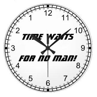 Time waits for no man!-Backward Numerals Wall Clocks