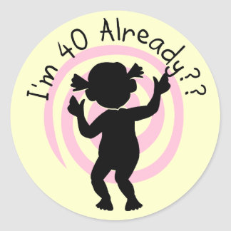Time Warp 40 Already Tshirts and gifts Classic Round Sticker