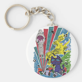 Time Well Wasted Basic Round Button Key Ring