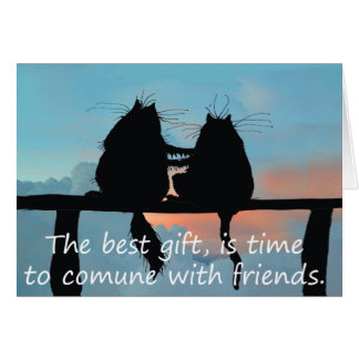 Time with friends cats greeting card