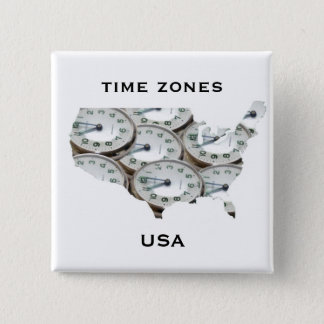 Time Zone Pocket Watch 15 Cm Square Badge
