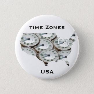 Time Zone Pocket Watch 6 Cm Round Badge