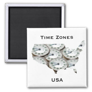 Time Zone Pocket Watch Magnet