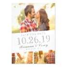 Timeless 3-Photo Save The Date Magnetic Card