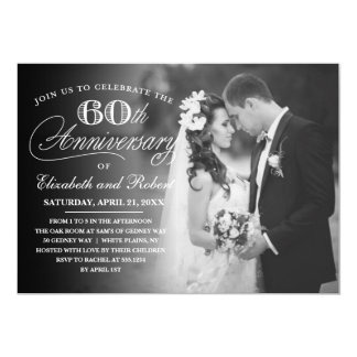 Timeless 60th Anniversary Party Photo Invitation