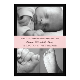 Timeless Band Birth Announcement - Pink