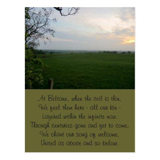 Timeless Beltane Sunset Postcard