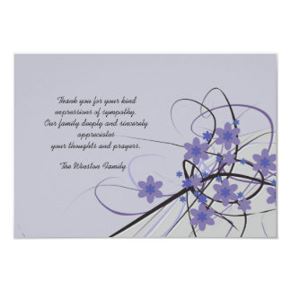 Timeless - Bereavement Thank You Notecard 9 Cm X 13 Cm Invitation Card