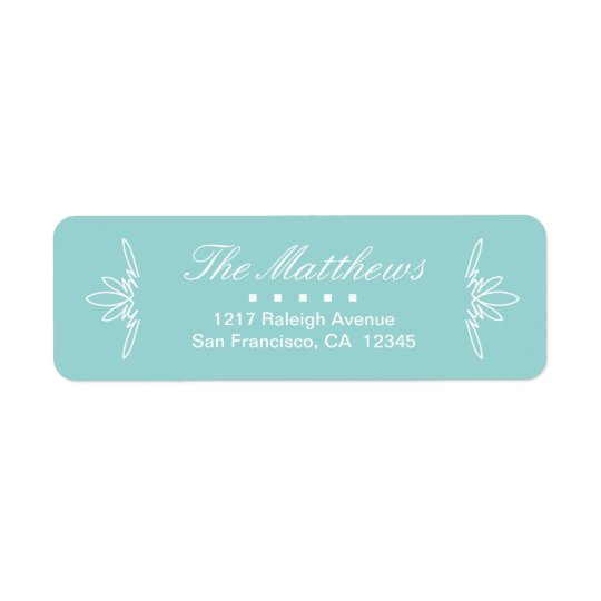 Timeless Charm Return Address Labels - Sky