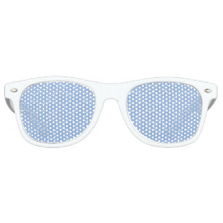 Timeless Dots Pattern Light Blue Retro Sunglasses