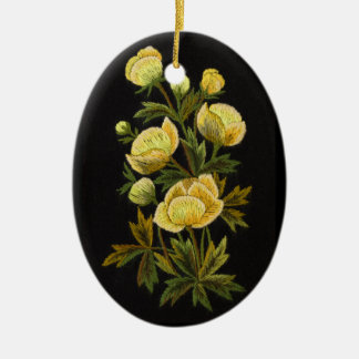 Timeless Globeflower Oval Ornament