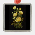 Timeless Globeflower Premium Square Ornament