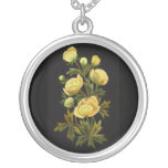 Timeless Globeflower Round Sterling Silver Necklac Necklace