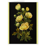 Timeless Globeflowers Greeting Cards