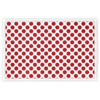 Timeless Red Polka Dot Design Acrylic Tray