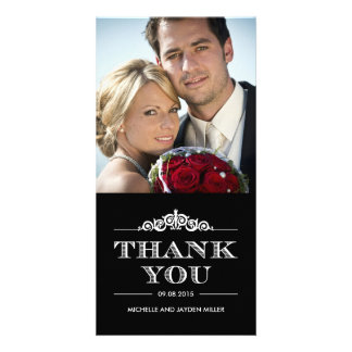 Timeless Sentiment Thank You Cards Solid Color Custom Photo Card