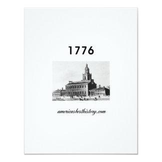 Timeline 1776 11 cm x 14 cm invitation card