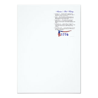 Timeline 1776 13 cm x 18 cm invitation card