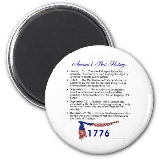Timeline 1776 6 cm round magnet