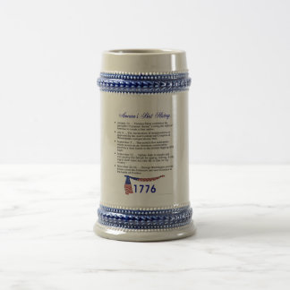 Timeline 1776 beer steins