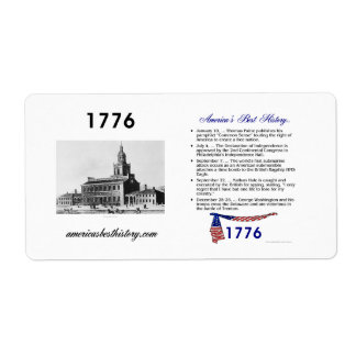 Timeline 1776 shipping label