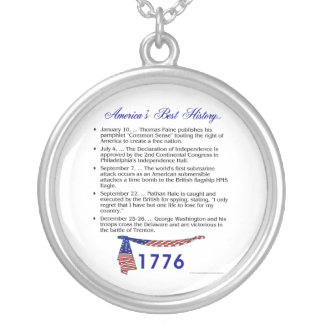 Timeline 1776 round pendant necklace