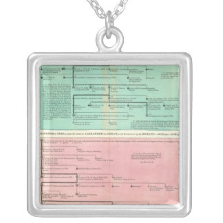 Timeline of Persia and Syria Silver Plated Necklace