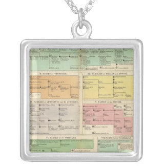 Timeline Roman Empire Events Silver Plated Necklace
