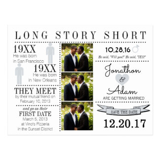 Timeline Save the Date Post Card