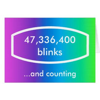 Timepodz rainbow card - 18 years old (blinks)