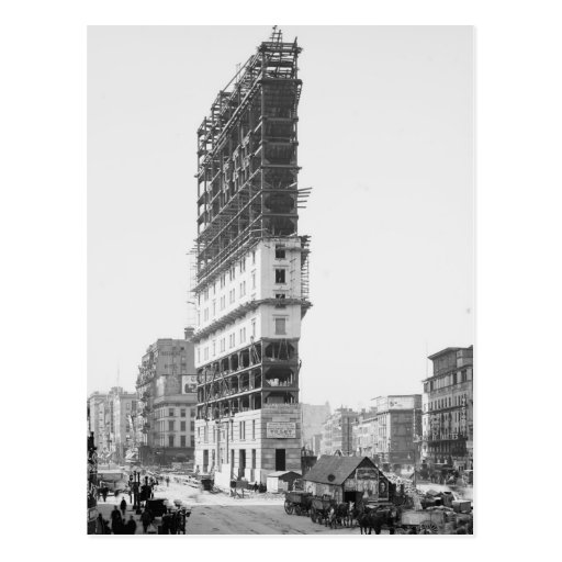 Times Building Under Construction, New York: 1904 Post Card