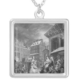 Times of the Day, Morning, 1738 Silver Plated Necklace