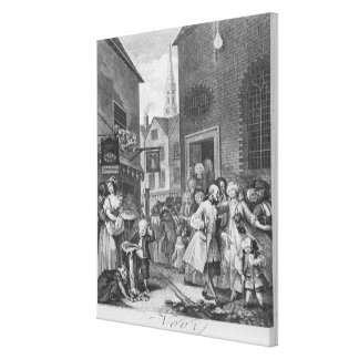 Times of the Day, Noon, 1738 Canvas Print