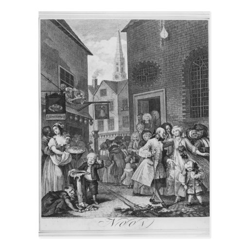 Times of the Day, Noon, 1738 Post Card