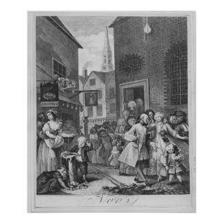 Times of the Day, Noon, 1738 Poster