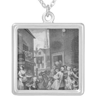 Times of the Day, Noon, 1738 Silver Plated Necklace