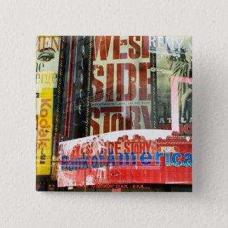 Times Square 15 Cm Square Badge